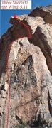Rock Climbing Photo: Three Sheets to the Wind (February 2014)