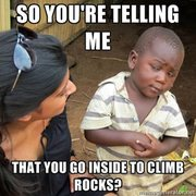 Rock Climbing Photo: meme