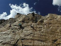 Rock Climbing Photo: Pico gets crazy sometimes