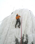 Rock Climbing Photo: on the ice silo