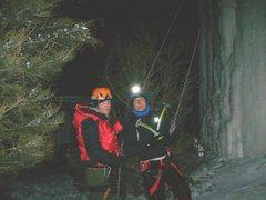 Rock Climbing Photo: with juggler on fri night. very cold!