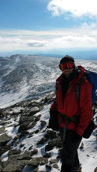 Rock Climbing Photo: Mount Washington in February, just above the Alpin...