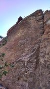 Rock Climbing Photo: Follow the line of bolts just left of the crack (C...