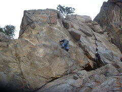 Rock Climbing Photo: Low on the route.