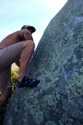 Rock Climbing Photo: Pullin through to the side pull of TWL !