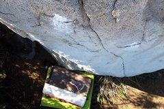 Rock Climbing Photo: Looking down at the crux crimps of Stone Master Ar...
