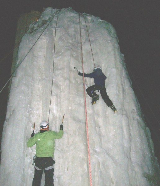 Rock Climbing Photo: Father and daughter both going for the summit.