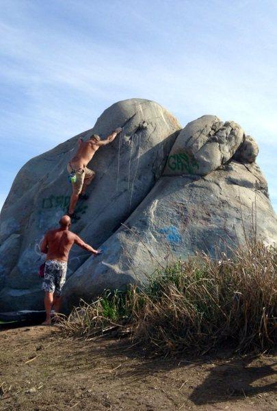 Rock Climbing Photo: South Side Boulder.