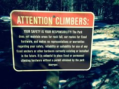 Rock Climbing Photo: The new trail head sign for the Grendel, courtesy ...
