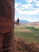 Rock Climbing Photo: wrap the route.