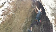 Rock Climbing Photo: Great hand jam to the right of anchors. Perfect ho...