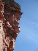 Rock Climbing Photo: Babits on one of the upper roofs