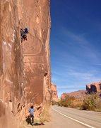 Rock Climbing Photo: Mother Trucker 11a Wall St.