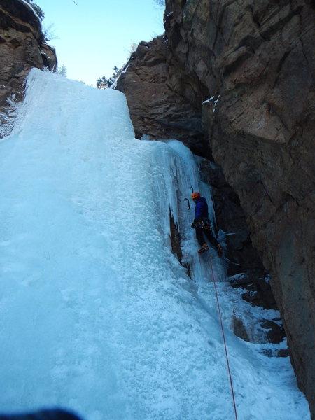 Rock Climbing Photo: 1st pitch of Hully.