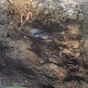 Rock Climbing Photo: Cross through on Anomaly (v5)