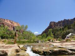 Rock Climbing Photo: La Verkin Creek Trail (Zion Canyon, Utah)