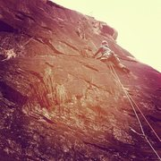 Rock Climbing Photo: The lower section of The Frog...and yes it was as ...