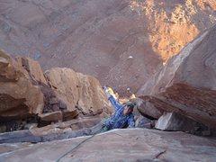 Rock Climbing Photo: 4 pitch of Kor Ingalls on Castleton