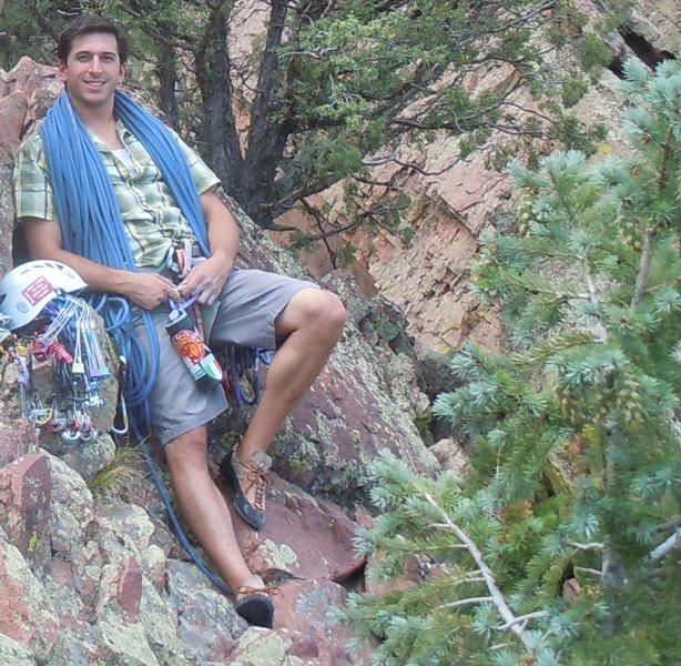 Rock Climbing Photo: Summit of Wind Ridge, Eldorado Canyon
