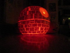 Rock Climbing Photo: Death Star Pumpkin - My kids like Star Wars, what ...