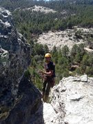 Rock Climbing Photo: oli en rappel!!! hay los washo