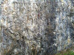Rock Climbing Photo: Rusty and Jimmy Thornburg starting up pitch one .1...