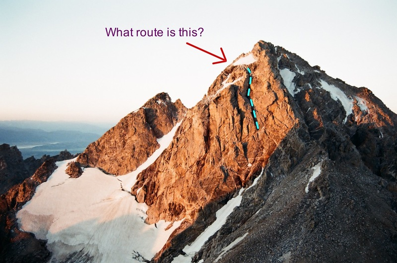 Middle Teton - What is this route?