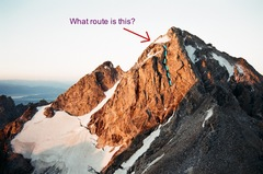 Rock Climbing Photo: Middle Teton - What is this route?