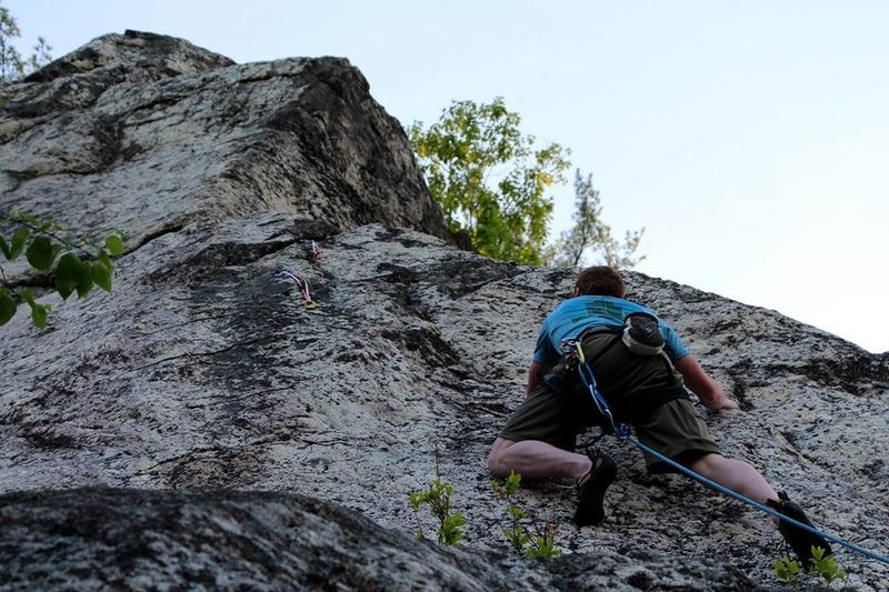 Rock Climbing Photo: begining