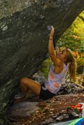 Rock Climbing Photo: Brianna Knaggs on Indian Outlaw. CJ Yunger photo.