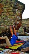 Rock Climbing Photo: Start beta of Chew Smoke.