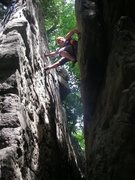 Rock Climbing Photo: Chimney climbing, love it.