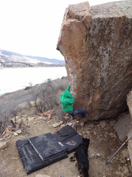 Rock Climbing Photo: Buster Dog checking out the sneaky, almost-feels-l...