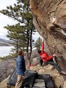 Rock Climbing Photo: Josh opening his Mental Standard.