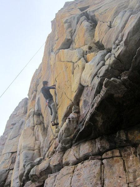 Rock Climbing Photo: Hiroshi jammin it out
