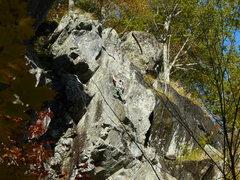 Rock Climbing Photo: Jenny Chin on the top part.