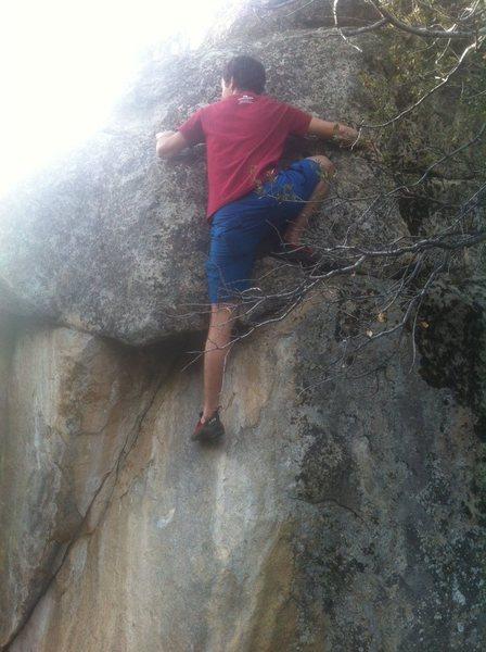 Rock Climbing Photo: big step-up