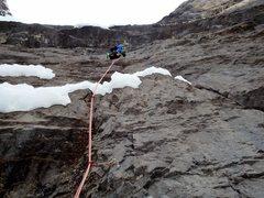 Rock Climbing Photo: Climbing a fun seam on the 2nd pitch. Photo: Dave ...