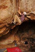 Rock Climbing Photo: Lundee Adakai on the FA of Triple Lundee