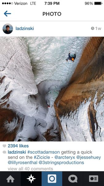 Rock Climbing Photo: Zicicle