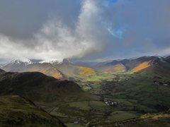 Rock Climbing Photo: Newlands Valley from Catbells . Lake District
