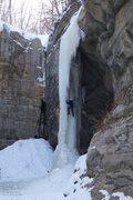 Rock Climbing Photo: Martin starts behind the pillar