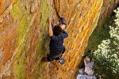 Rock Climbing Photo: Dominic locking it down