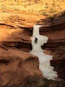 Rock Climbing Photo: Contrived ice