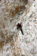 Rock Climbing Photo: Neely Quinn makes her way through the short person...