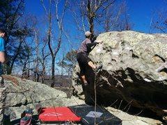 Rock Climbing Photo: First ascent of Schadenfreude