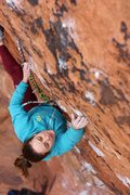 Rock Climbing Photo: Steph Marvez takes a burn on Boone's classic, The ...