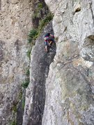 Rock Climbing Photo: The mysterious headless climber on the first pitch...