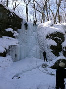 Rock Climbing Photo: Thick conditions as of February 16, 2014.  There w...