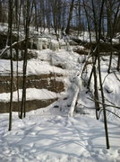 Rock Climbing Photo: Conditions as of February 16, 2014.  Only the far ...